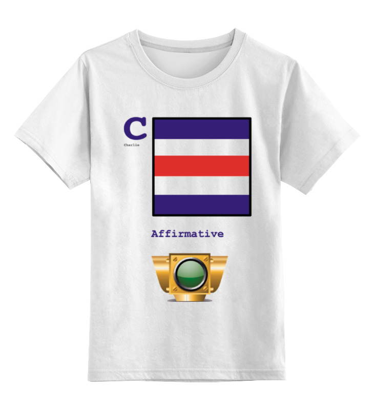 Детская футболка классическая унисекс Printio Charlie (c), флаг мсс (eng) детская футболка классическая унисекс printio india i флаг мсс eng