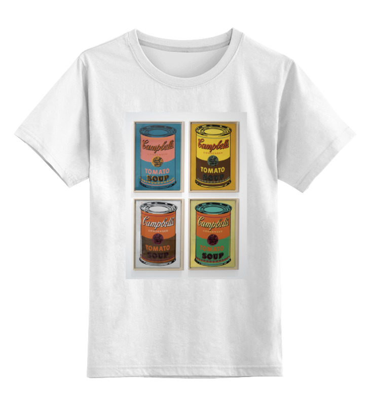 Детская футболка классическая унисекс Printio Банки с супом кэмпбелл (campbell's soup cans) сумка printio банки с супом кэмпбелл campbell's soup cans