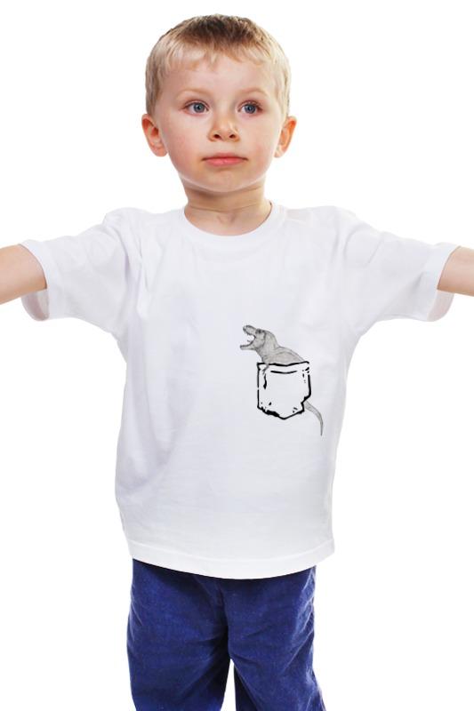 Детская футболка классическая унисекс Printio Динозавр в кармане elc динозавр ти рекс