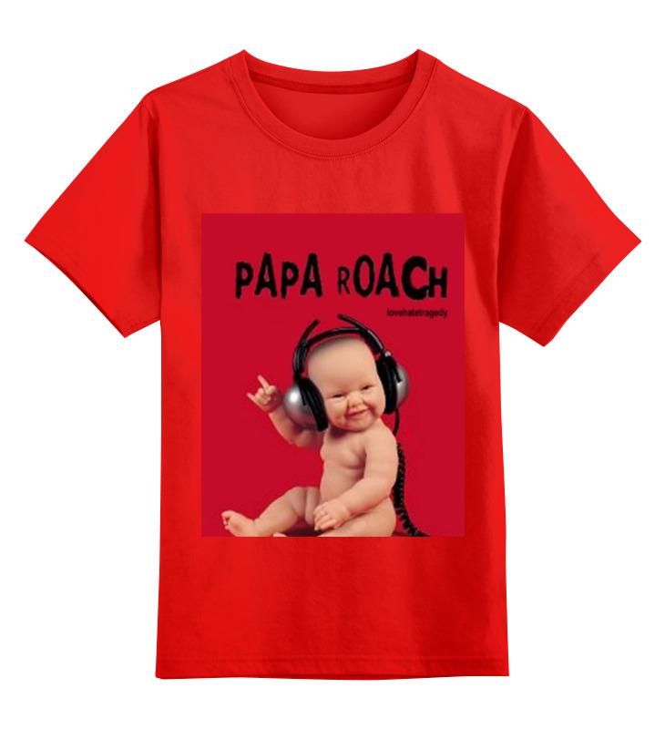 Детская футболка классическая унисекс Printio Papa roach - lovehate tragedy album