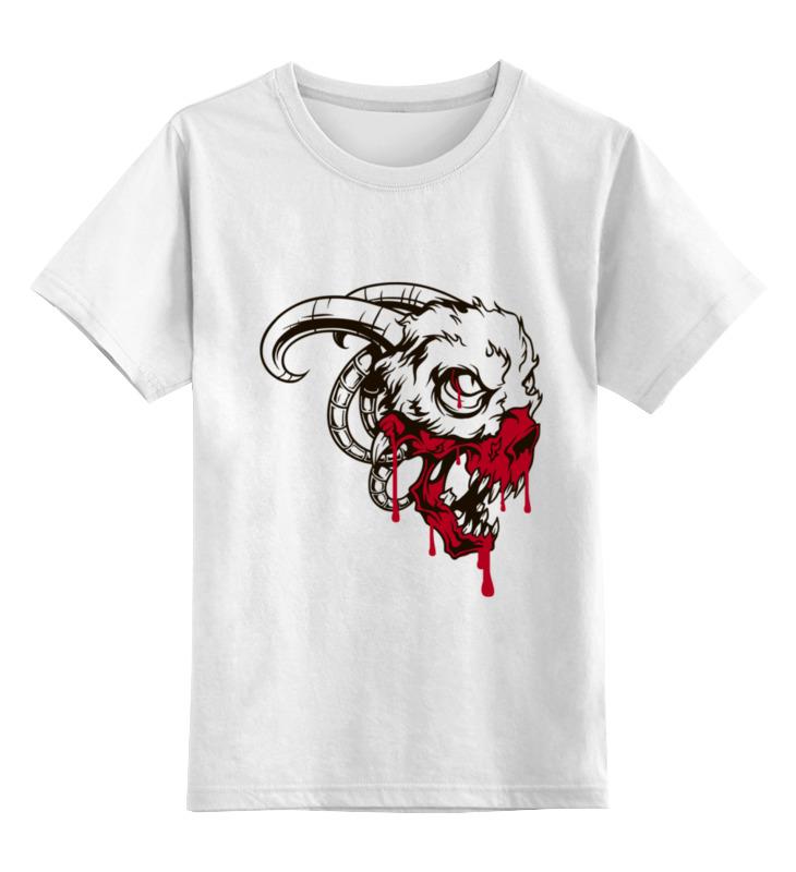 Детская футболка классическая унисекс Printio Череп козла детская футболка классическая унисекс printio череп марио
