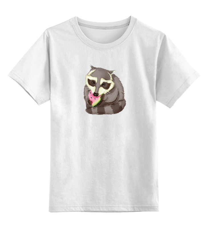 Детская футболка классическая унисекс Printio Крошка енот для мальчиков и девочек крошка енот