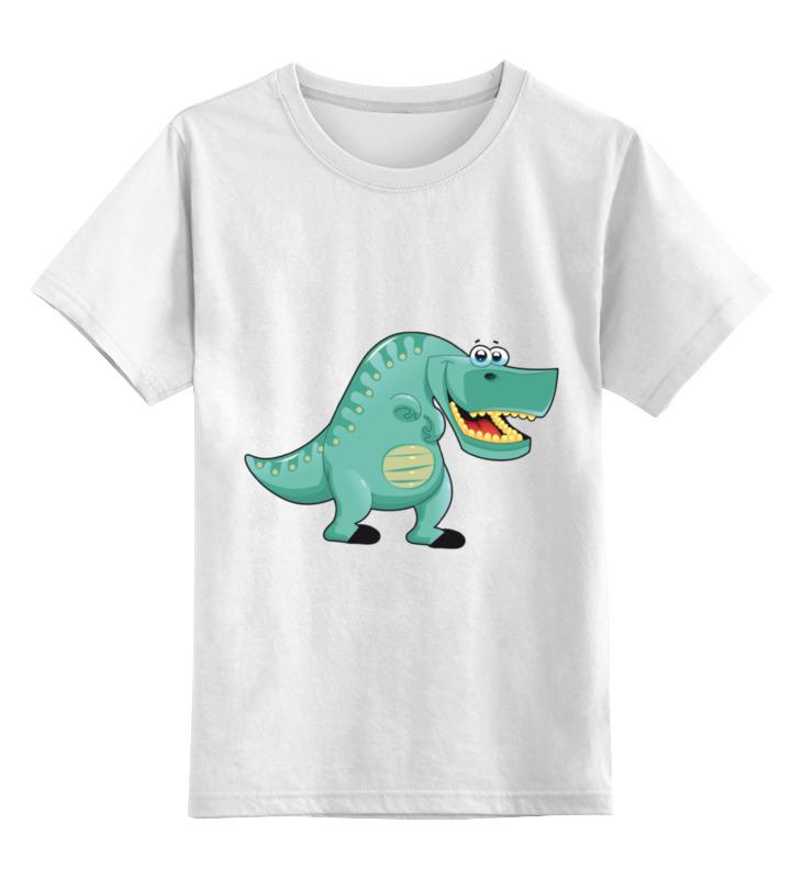 Детская футболка классическая унисекс Printio Забавный  динозавр детская футболка классическая унисекс printio рога