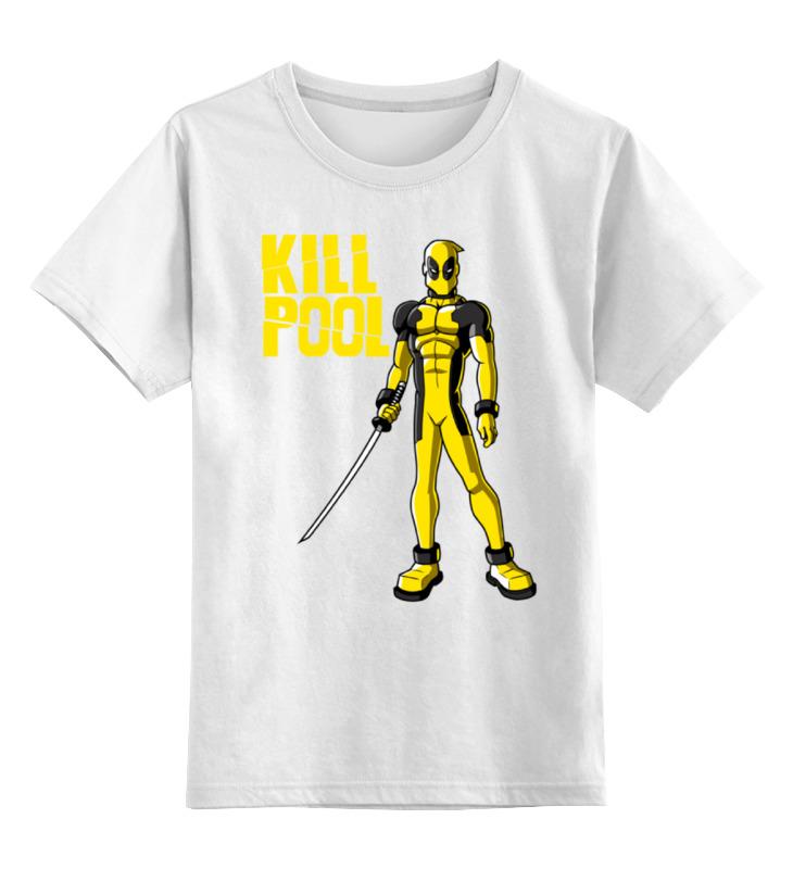 Детская футболка классическая унисекс Printio Дэдпул (килл билл) майка классическая printio килл дэдпул