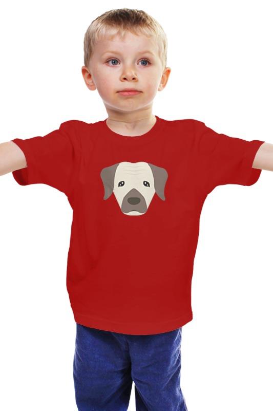 Детская футболка классическая унисекс Printio Пёсик smoby детская горка king size цвет красный