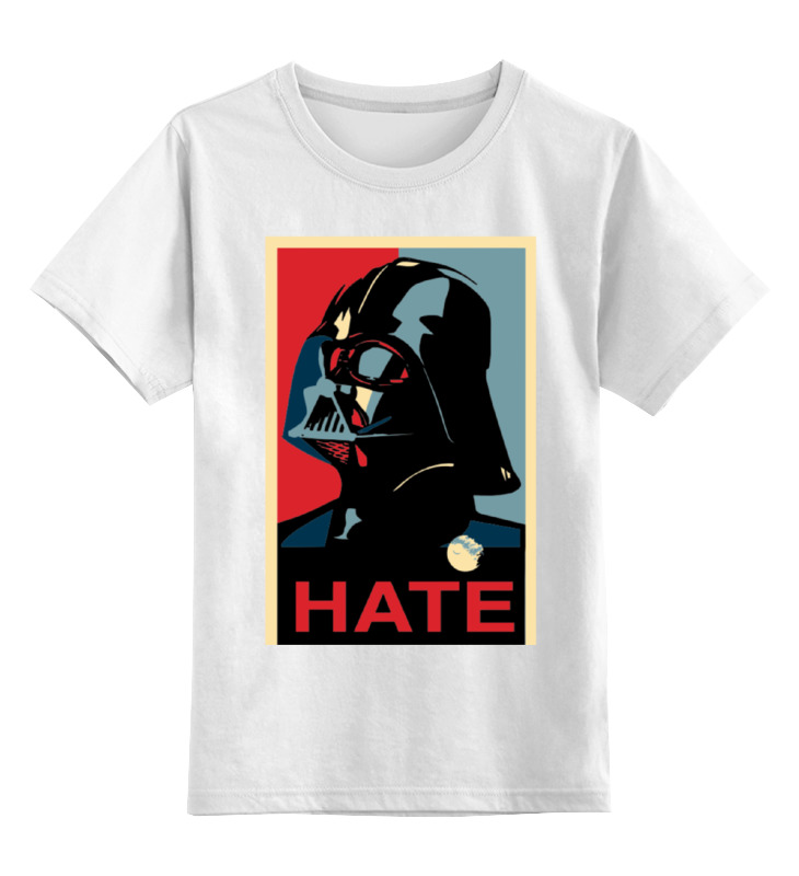 Детская футболка классическая унисекс Printio Darth vader - hate детская футболка классическая унисекс printio darth vader