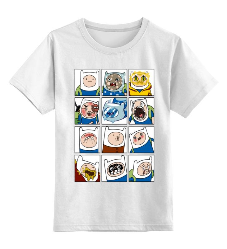 Детская футболка классическая унисекс Printio Финн. время приключений diy silicone thermal pad heat conduct mat for heat sink blue 400mm x 200mm x 1mm