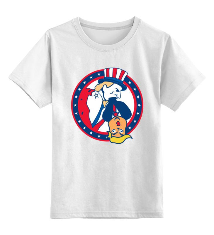 Детская футболка классическая унисекс Printio Президент трамп цена и фото