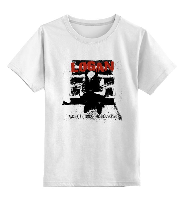 Детская футболка классическая унисекс Printio Logan logan pixar 2 w белый