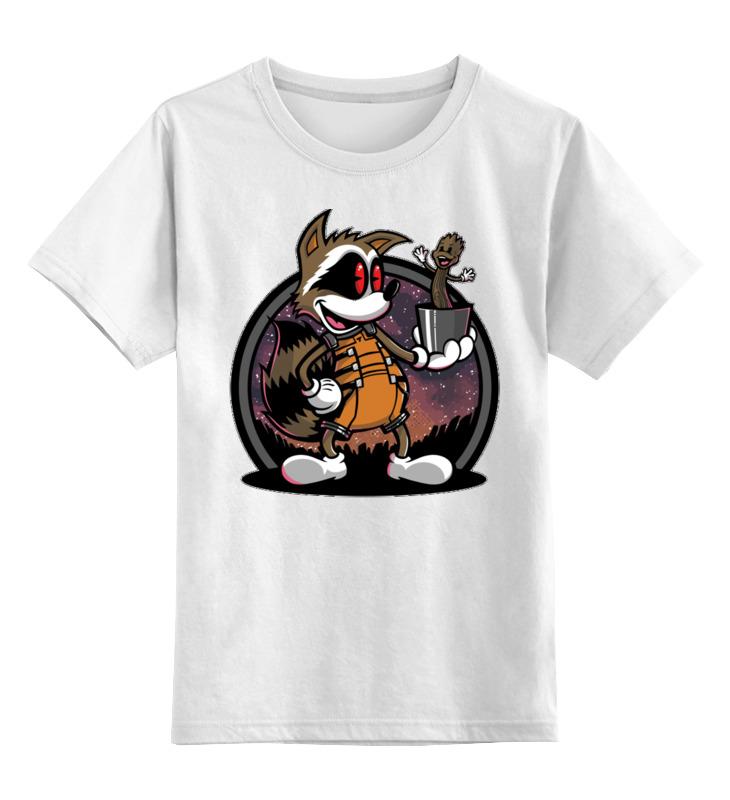 Детская футболка классическая унисекс Printio Енот. футболка енот