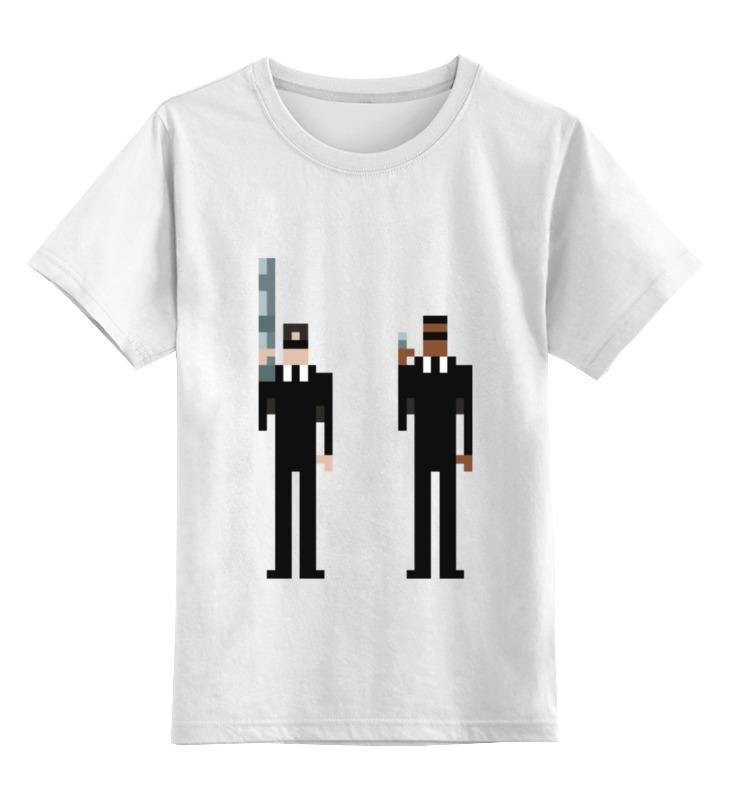 Детская футболка классическая унисекс Printio Люди в чёрном цены онлайн