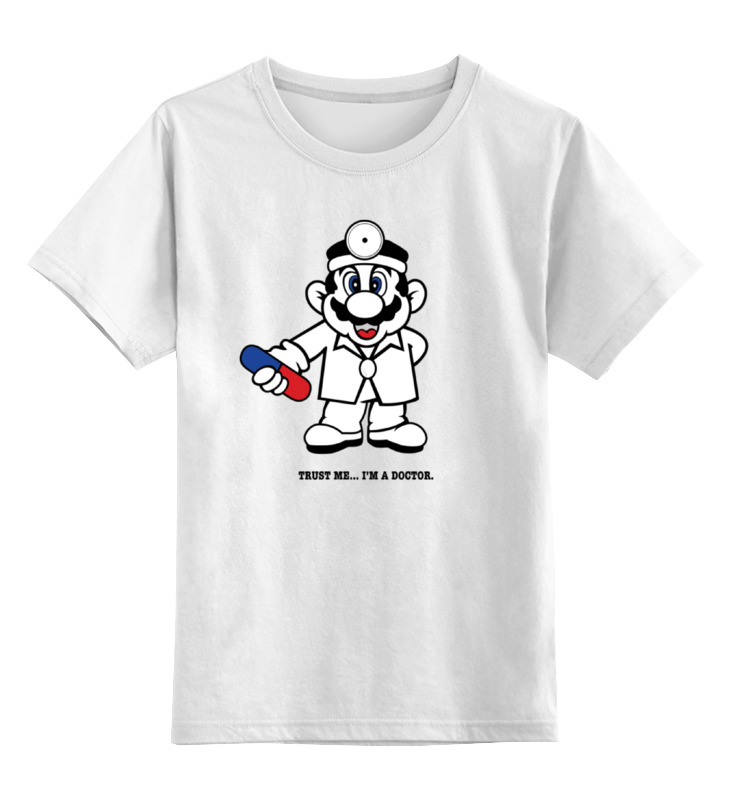 Детская футболка классическая унисекс Printio Доктор марио детская футболка классическая унисекс printio кинг бу марио