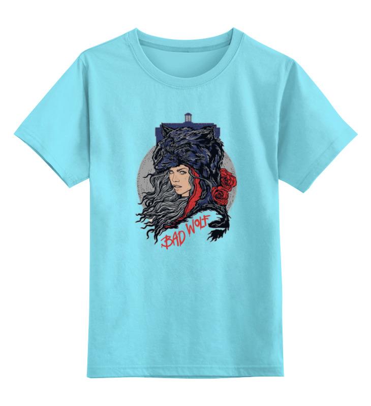 Детская футболка классическая унисекс Printio Bad wolf (doctor who) футболка рингер printio доктор кто doctor who