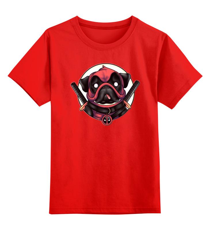 Детская футболка классическая унисекс Printio Deadpug smoby детская горка king size цвет красный