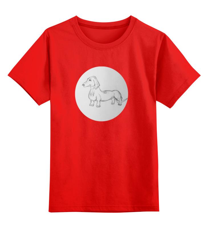 Детская футболка классическая унисекс Printio Такса