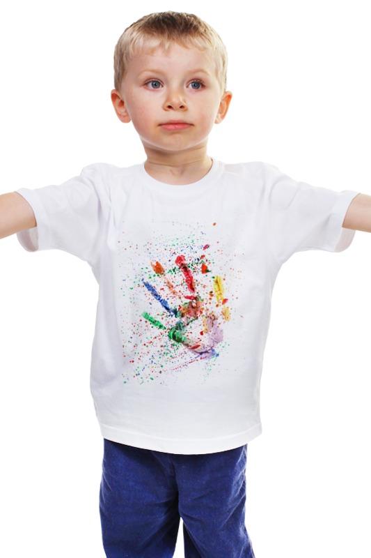 Детская футболка классическая унисекс Printio Emotion - жажда творить зара детская одежда основные футболку 03795601250