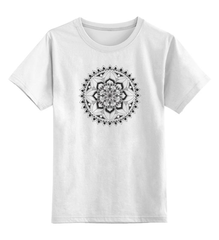 Детская футболка классическая унисекс Printio Мандала радость от alsusha