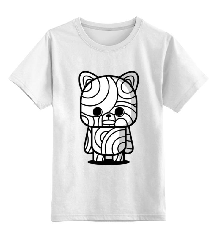 Детская футболка классическая унисекс Printio Медведь мумия