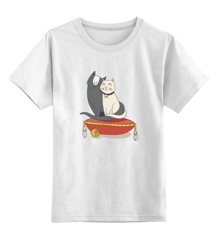 Детская футболка классическая унисекс Printio Милые кошки