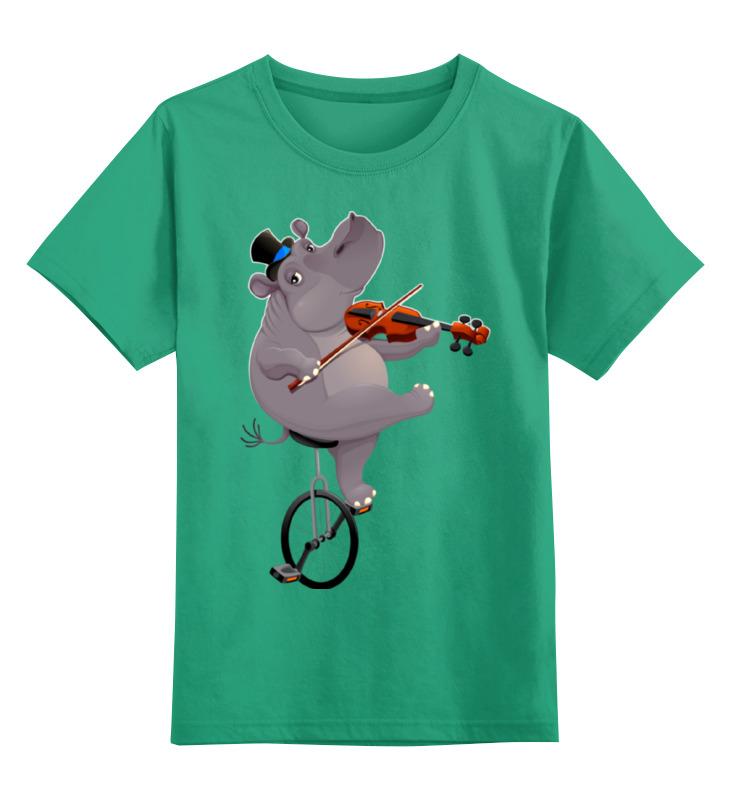 Детская футболка классическая унисекс Printio Забавный бегемот детская футболка классическая унисекс printio бегемот