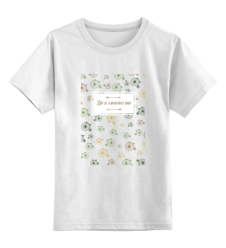 Детская футболка классическая унисекс Printio Life is a beautiful ride a chinese life
