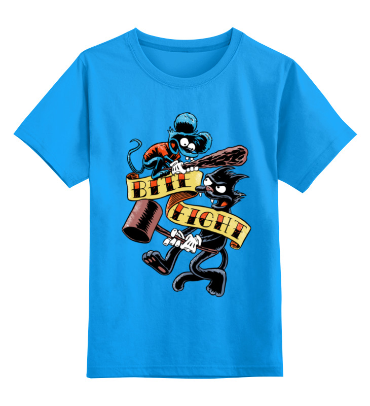 Детская футболка классическая унисекс Printio Щекотка и царапка (симпсоны) футболка щекотка и царапка