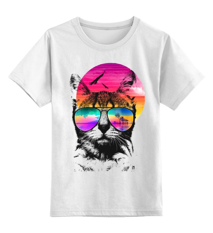 Детская футболка классическая унисекс Printio Пляжный кот детская футболка классическая унисекс printio абстрактный кот