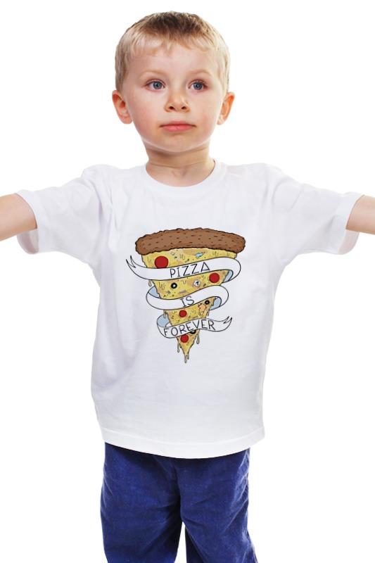 Детская футболка классическая унисекс Printio Пицца навсегда (pizza forever) сумка printio пицца навсегда pizza forever
