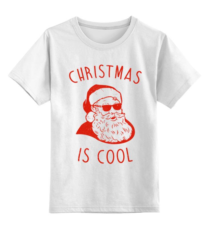 Детская футболка классическая унисекс Printio Крутой дед мороз