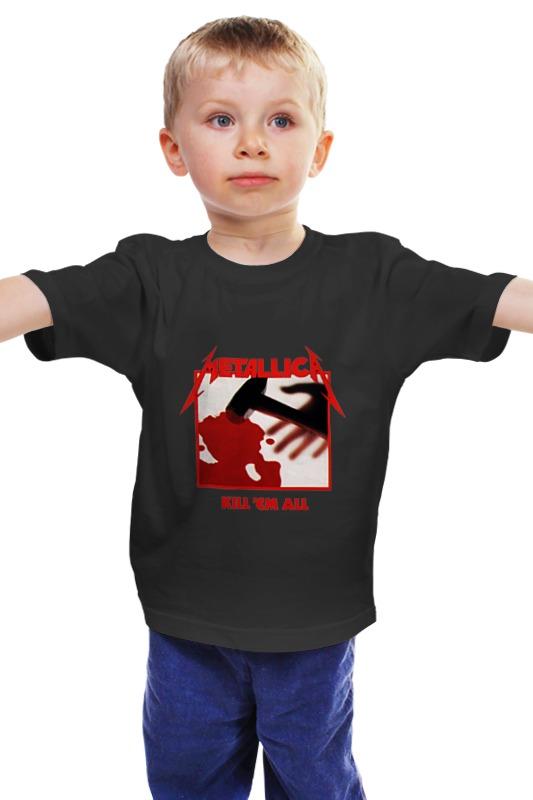 Детская футболка классическая унисекс Printio Metallica kill 'em all kill em all cd