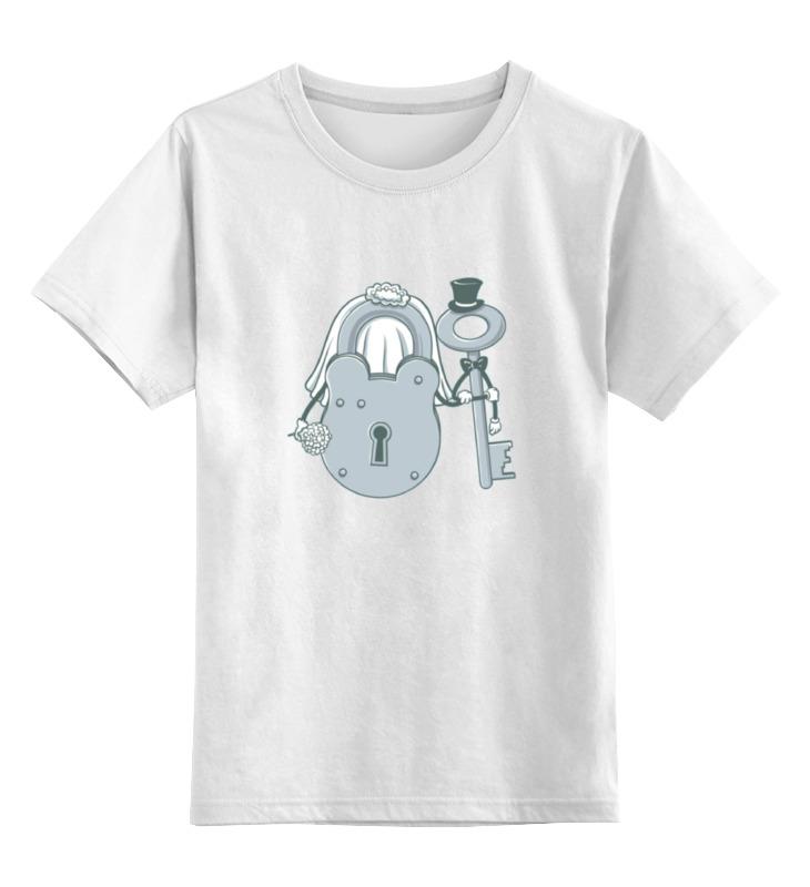 Детская футболка классическая унисекс Printio Невеста и жених кампанула невеста в тюмени
