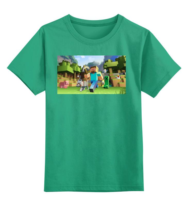 Детская футболка классическая унисекс Printio Майнкрафт цена