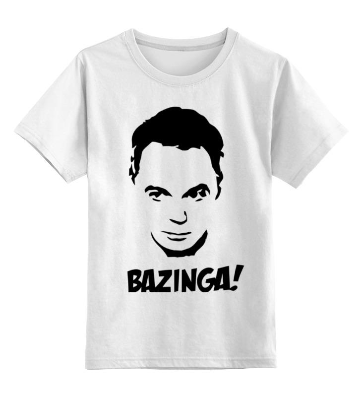 Детская футболка классическая унисекс Printio Bazinga! (шелдон) майка классическая printio шелдон купер moon pie