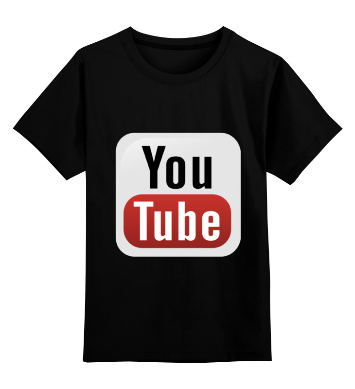Детская футболка классическая унисекс Printio Youtube printer youtube