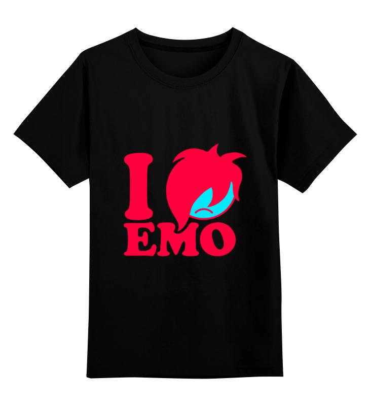 Детская футболка классическая унисекс Printio Я люблю эмо