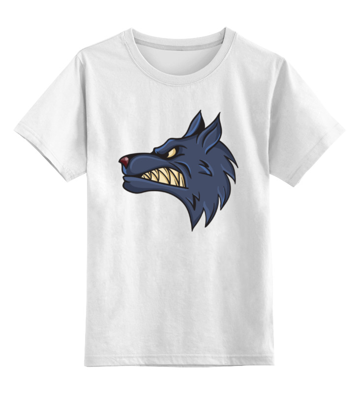 Детская футболка классическая унисекс Printio Angry wolf детская футболка классическая унисекс printio lone wolf