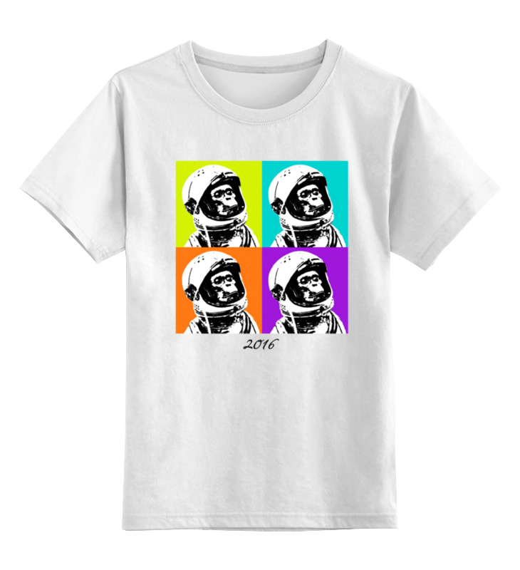 Детская футболка классическая унисекс Printio Обезьяна космонавт детская футболка классическая унисекс printio обезьяна планета обезьян