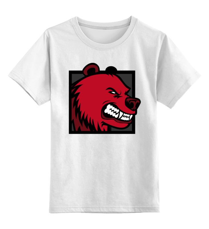 Детская футболка классическая унисекс Printio Red bear детская футболка классическая унисекс printio мачете