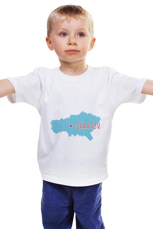 Детская футболка классическая унисекс Printio Саратовская область. саратов рено флюенс диски штампы саратов энгельс кол са