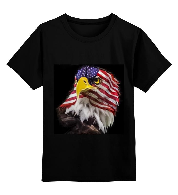 Детская футболка классическая унисекс Printio Соединенные штаты 606 489 минимальный $ 10 европа и соединенные штаты преувеличены drop в ретро кольцо