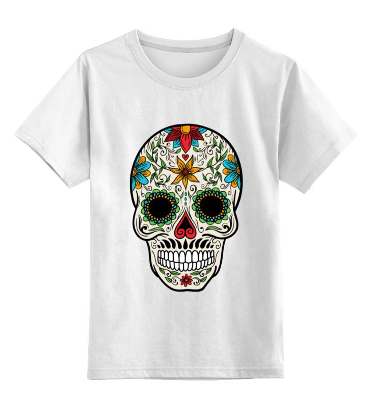 Детская футболка классическая унисекс Printio Череп цветочный детская футболка классическая унисекс printio череп марио