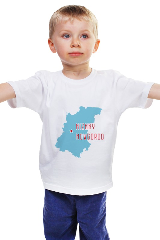 Детская футболка классическая унисекс Printio Нижегородская область. нижний новгород билет на самолет нижний новгород анталия