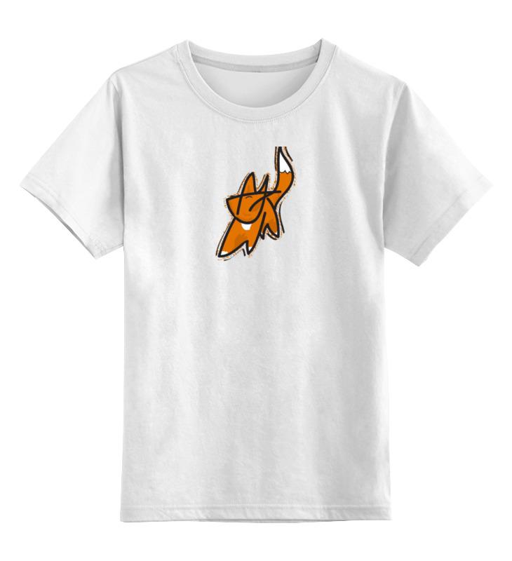 Детская футболка классическая унисекс Printio Рыжий лис цена и фото