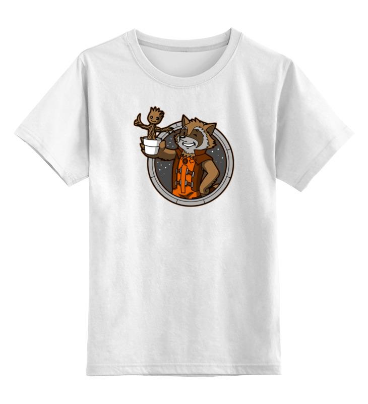Детская футболка классическая унисекс Printio Грут и енот (стражи галактики) цена и фото