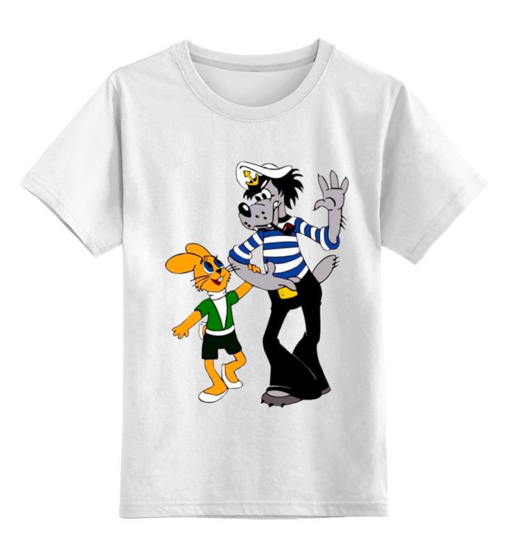 Детская футболка классическая унисекс Printio Любимый мульт. ну,погоди.заяц и волк. цена и фото