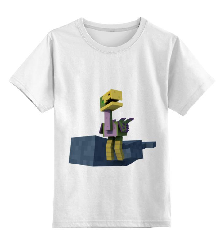 Детская футболка классическая унисекс Printio Необычные животные майнкрафта футболка классическая printio кит ричардс