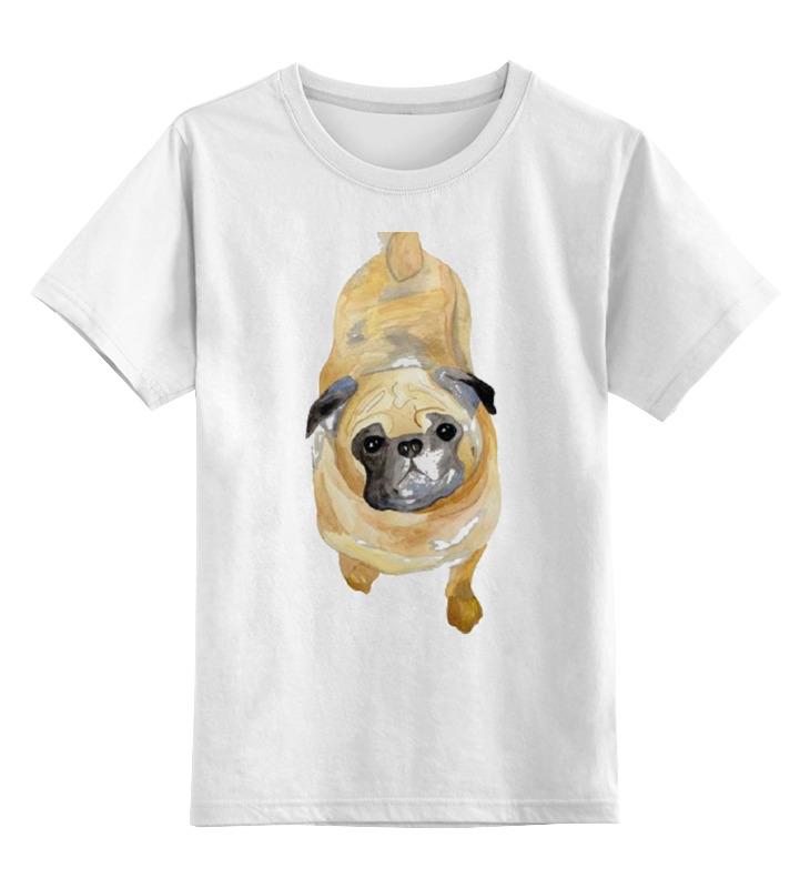 Детская футболка классическая унисекс Printio Нарисованный мопс детская футболка классическая унисекс printio мотобайк