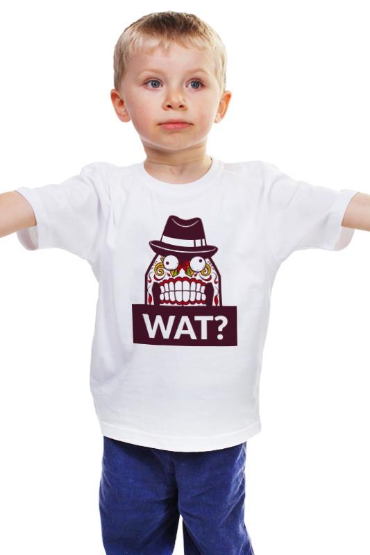Детская футболка классическая унисекс Printio Wat?