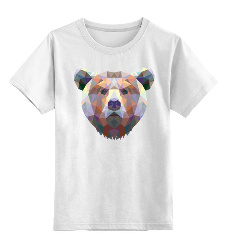 Детская футболка классическая унисекс Printio Полигональный медведь майка классическая printio полигональный медведь