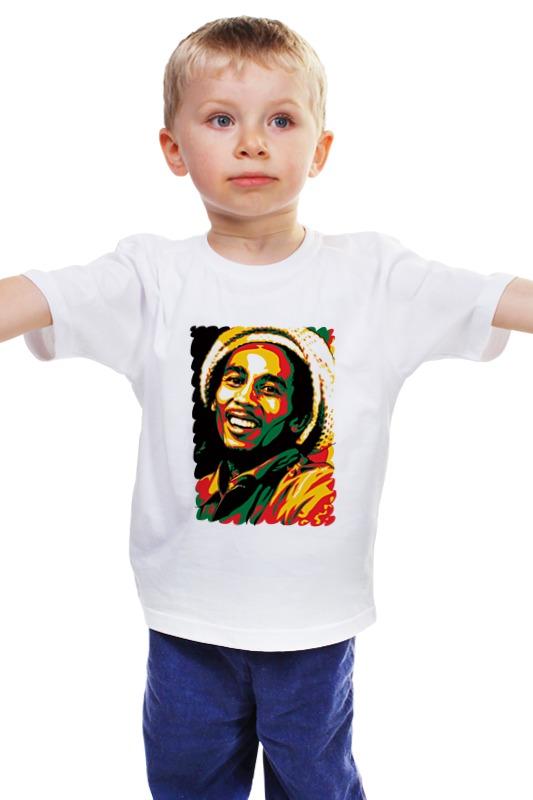 Детская футболка классическая унисекс Printio Боб марлей (bob marley) детская футболка классическая унисекс printio боб марлей